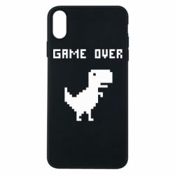 Чехол для iPhone Xs Max Game over dino from browser