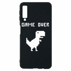 Чехол для Samsung A7 2018 Game over dino from browser
