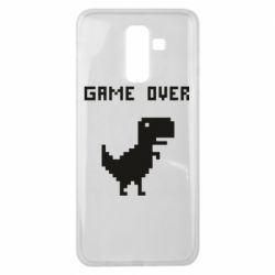 Чехол для Samsung J8 2018 Game over dino from browser