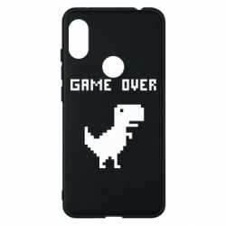Чехол для Xiaomi Redmi Note 6 Pro Game over dino from browser