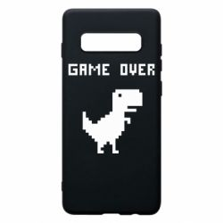 Чехол для Samsung S10+ Game over dino from browser