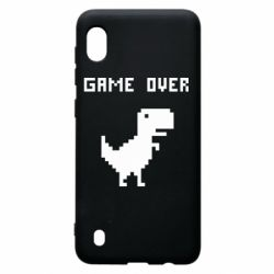 Чехол для Samsung A10 Game over dino from browser