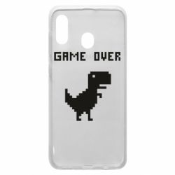 Чехол для Samsung A20 Game over dino from browser