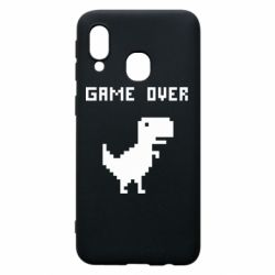 Чехол для Samsung A40 Game over dino from browser