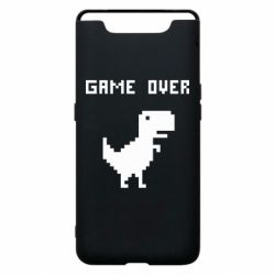Чехол для Samsung A80 Game over dino from browser