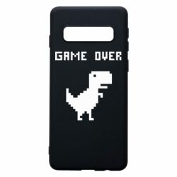 Чехол для Samsung S10 Game over dino from browser