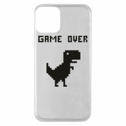 Чехол для iPhone 11 Game over dino from browser