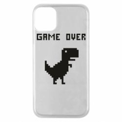 Чехол для iPhone 11 Pro Game over dino from browser