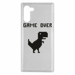 Чехол для Samsung Note 10 Game over dino from browser