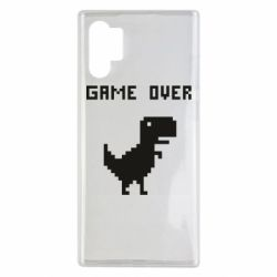 Чехол для Samsung Note 10 Plus Game over dino from browser
