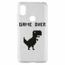 Чехол для Xiaomi Redmi S2 Game over dino from browser