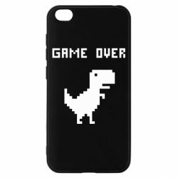 Чехол для Xiaomi Redmi Go Game over dino from browser