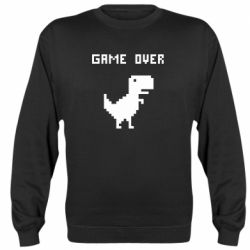 Реглан (свитшот) Game over dino from browser