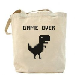 Сумка Game over dino from browser