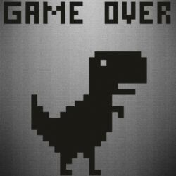 Наклейка Game over dino from browser