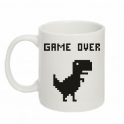 Кружка 320ml Game over dino from browser
