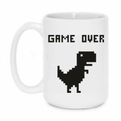 Кружка 420ml Game over dino from browser