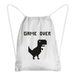 Рюкзак-мешок Game over dino from browser