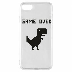 Чехол для iPhone 7 Game over dino from browser