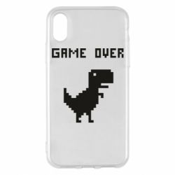 Чехол для iPhone X/Xs Game over dino from browser
