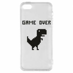 Чехол для iPhone5/5S/SE Game over dino from browser
