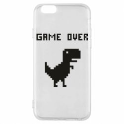 Чехол для iPhone 6/6S Game over dino from browser