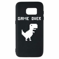 Чехол для Samsung S7 Game over dino from browser