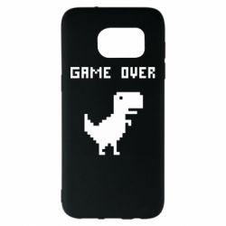 Чехол для Samsung S7 EDGE Game over dino from browser