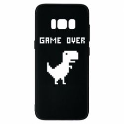 Чехол для Samsung S8 Game over dino from browser