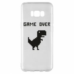 Чехол для Samsung S8+ Game over dino from browser