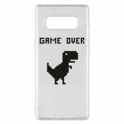 Чехол для Samsung Note 8 Game over dino from browser