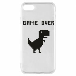 Чехол для iPhone 8 Game over dino from browser