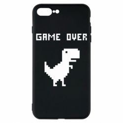 Чехол для iPhone 8 Plus Game over dino from browser