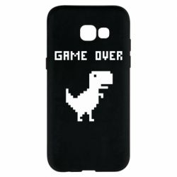 Чехол для Samsung A5 2017 Game over dino from browser