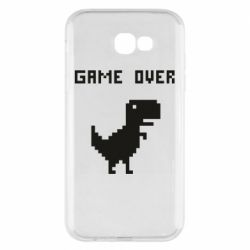 Чехол для Samsung A7 2017 Game over dino from browser