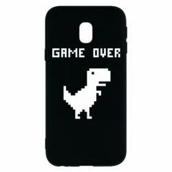 Чехол для Samsung J3 2017 Game over dino from browser