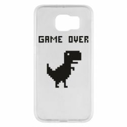 Чехол для Samsung S6 Game over dino from browser