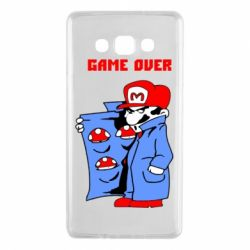 Чехол для Samsung A7 2015 Game Over Mario
