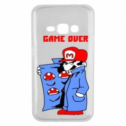 Чехол для Samsung J1 2016 Game Over Mario