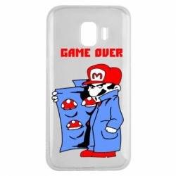 Чехол для Samsung J2 2018 Game Over Mario