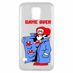 Чехол для Samsung S5 Game Over Mario