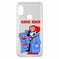 Чехол для Xiaomi Redmi Note 6 Pro Game Over Mario