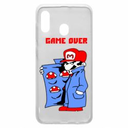 Чехол для Samsung A20 Game Over Mario