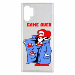 Чехол для Samsung Note 10 Plus Game Over Mario