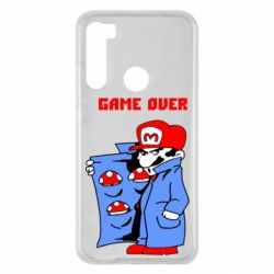 Чехол для Xiaomi Redmi Note 8 Game Over Mario