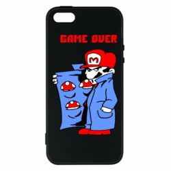 Чехол для iPhone5/5S/SE Game Over Mario