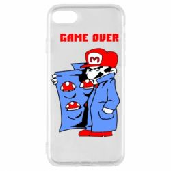 Чехол для iPhone 7 Game Over Mario
