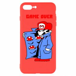 Чехол для iPhone 8 Plus Game Over Mario