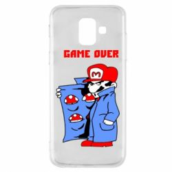 Чехол для Samsung A6 2018 Game Over Mario
