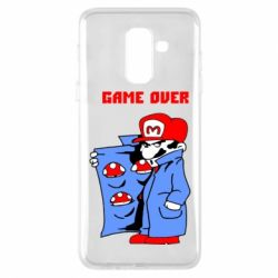 Чехол для Samsung A6+ 2018 Game Over Mario